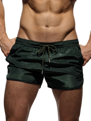 PRIVATE STRUCTURE HI-SHEEN Running Shorts Amy Green