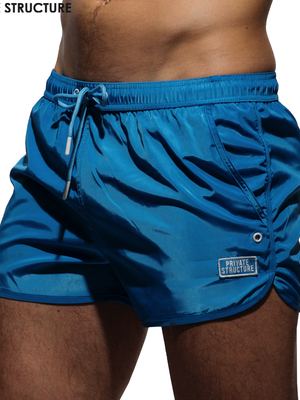 PRIVATE STRUCTURE HI-SHEEN Running Shorts Royal