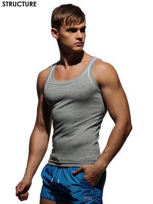 PRIVATE STRUCTURE Slim Fit Tank Top Melange