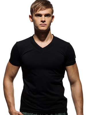 PRIVATE STRUCTURE Custom Fit V-Neck Tee Black