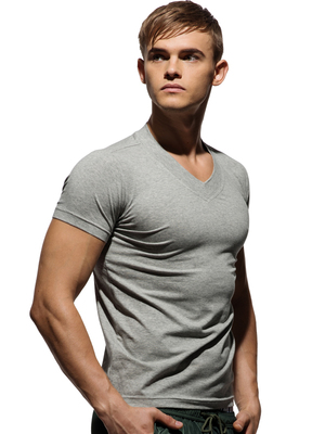 PRIVATE STRUCTURE Custom Fit V-Neck Tee Melange