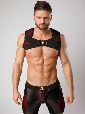 MASKULO Armored Color-Under Holster Chest Harness Red