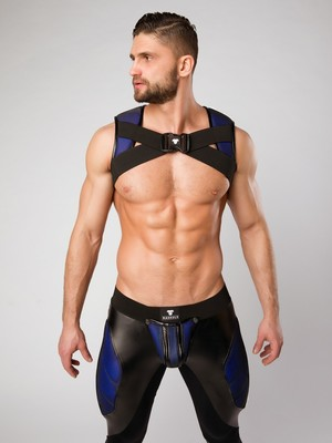 MASKULO Armored Color-Under Holster Chest Harness Royal Blue