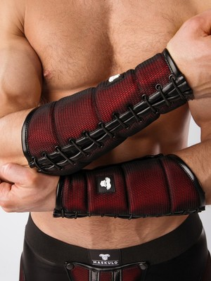 MASKULO Armored Color-Under Forearm Guard Wallet (1pc) Red