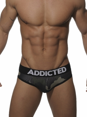 Addicted Empty Button Brief Camouflage