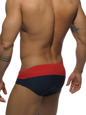 Addicted Asymmetric Contrast Brief Red