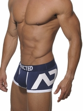 Addicted Logo Push Up Boxer Navy
