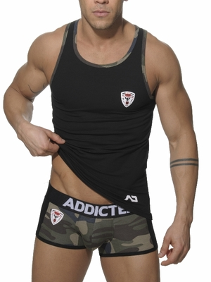 Addicted Army Tank Top Black