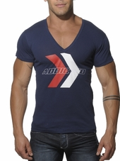 Addicted Printed V-Neck T-Shirt