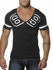 Addicted 69 V-Neck T-Shirt Black
