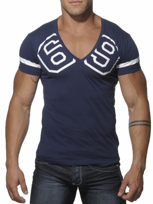 Addicted 69 V-Neck T-Shirt Navy