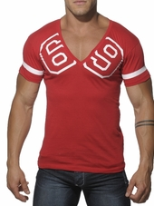 Addicted 69 V-Neck T-Shirt Red