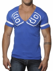 Addicted 69 V-Neck T-Shirt Royal