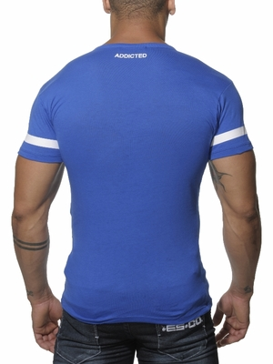 Addicted 69 V-Neck T-Shirt Royal Blue