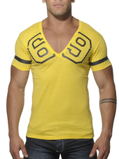 Addicted 69 V-Neck T-Shirt Yello