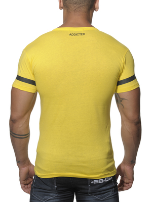 Addicted 69 V-Neck T-Shirt Yellow