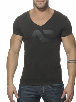 Addicted Vintage V-Neck T-Shirt Black
