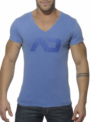 Addicted Vintage V-Neck T-Shirt Royal Blue