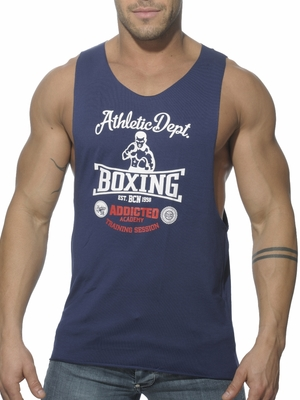 Addicted Low Rider Boxing Tanktop Navy
