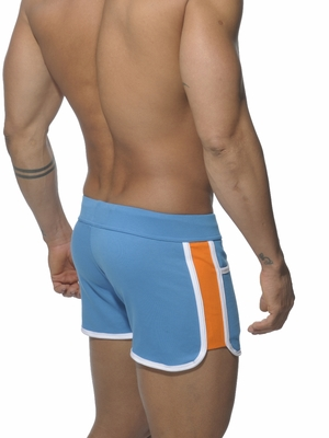 Addicted Gym Short with Contrast Side Panels Surf Blue
