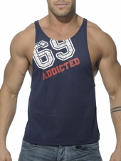 Addicted Low Rider 69 Tank Navy