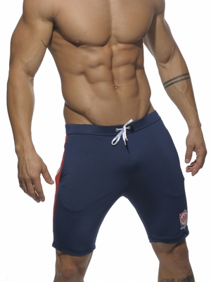 Addicted Knee Lenght Gym Short Navy