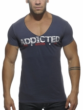 Addicted V-Neck Addicted T-Shirt