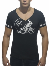 ADDICTED Helmet V-Neck T-Shirt B