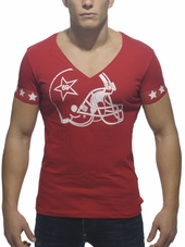 ADDICTED Helmet V-Neck T-Shirt R