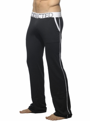 Addicted Lounge Pant With Patch Pockets Black