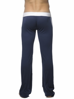 Addicted Lounge Pant With Patch Pockets Navy