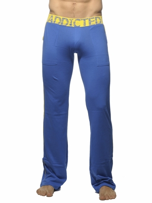 Addicted Lounge Pant With Patch Pockets Royal Blue