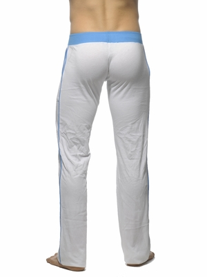 Addicted Lounge Pant With Patch Pockets White