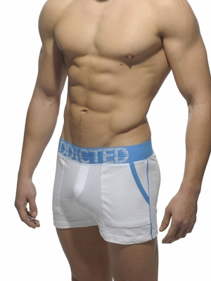 Addicted Lounge Short With Patch Pockets White