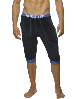 Addicted Velvet Knee Pants Black