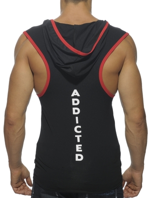 Addicted Hoody Tank Top Black