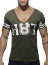 ADDICTED H8T V-Neck T-Shirt Kaki