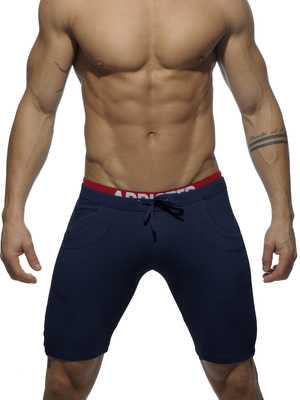 ADDICTED Combined Waistbrand Knee Pant Navy