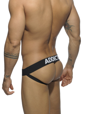 ADDICTED Mesh Jock Push Up Black