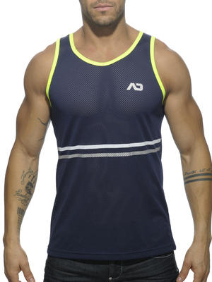 ADDICTED Plantinum Detail Tank Top Navy
