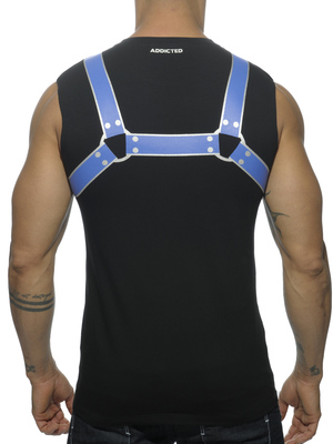ADDICTED FETISH HARNESS TANK TOP Royal Blue