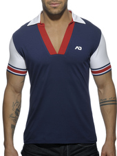 ADDICTED SLEEVE CONTRASTED POLO