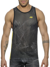 Addicted Abstract Tank Top Black