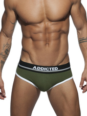 ADDICTED Curve Brief Kaki