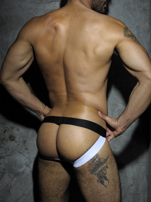 ADDICTED FETISH Mesh Jockstrap White/Black