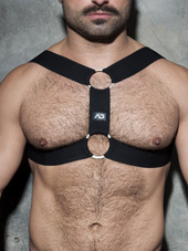 ADDICTED Double Ring Harness Bla