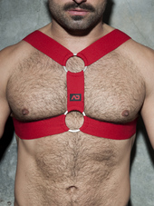 ADDICTED Double Ring Harness Red