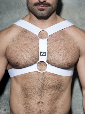 ADDICTED Double Ring Harness White