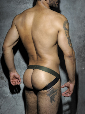ADDICTED FETISH Stripe Jockstrap Camouflage