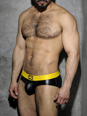 ADDICTED FETISH Rub Brief Back Open Yellow